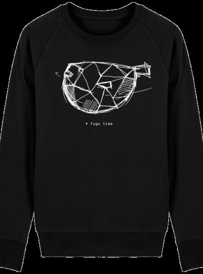 Sweat Shirt inspiration Japonaise - Fugu Time - Black - Face