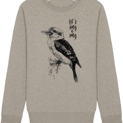 Sweat Shirt Kookaburra - Let's sing a song - Heather Sand - Face