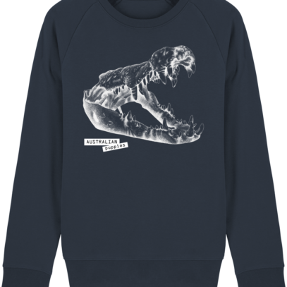 Sweat Shirt Crocodile - Australian Puppies - French Navy - Face