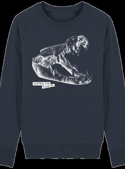 Sweat Shirt Crocodile - Australian Puppies - French Navy - Face
