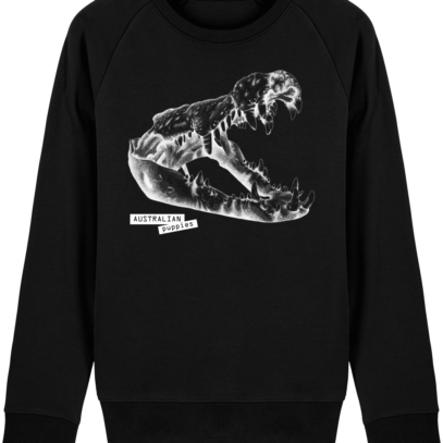 Sweat Shirt Crocodile - Australian Puppies - Black - Face