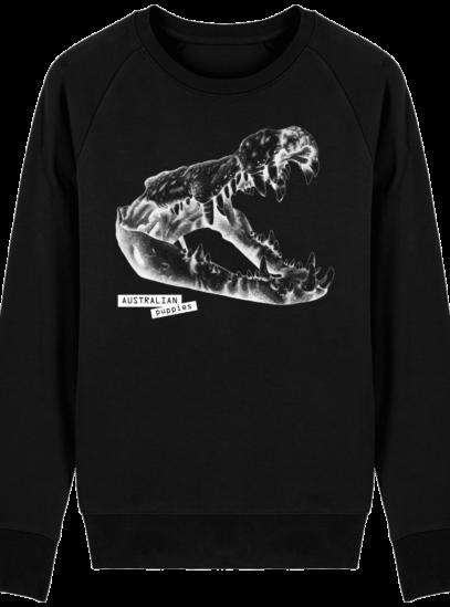 Sweat Shirt Crocodile - Australian Puppies - Black - Face