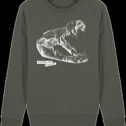 Sweat Shirt Crocodile - Australian Puppies - Khaki - Face