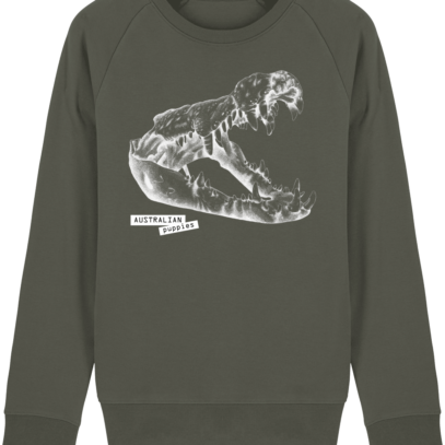 Sweat Shirt Crocodile - Australian Puppies - Khaki - Face
