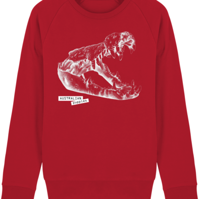 Sweat Shirt Crocodile - Australian Puppies - Red - Face