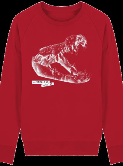 Sweat Shirt Crocodile - Australian Puppies - Red - Face