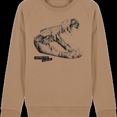 Sweat Shirt Crocodile - Australian Puppies - Camel - Face