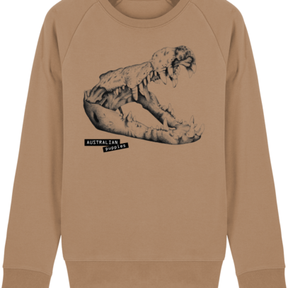 Sweat Shirt Crocodile - Australian Puppies - Camel - Face