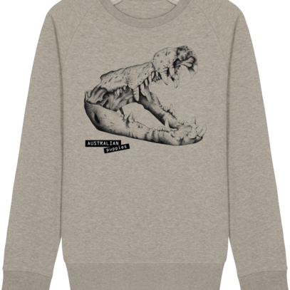 Sweat Shirt Crocodile - Australian Puppies - Heather Sand - Face