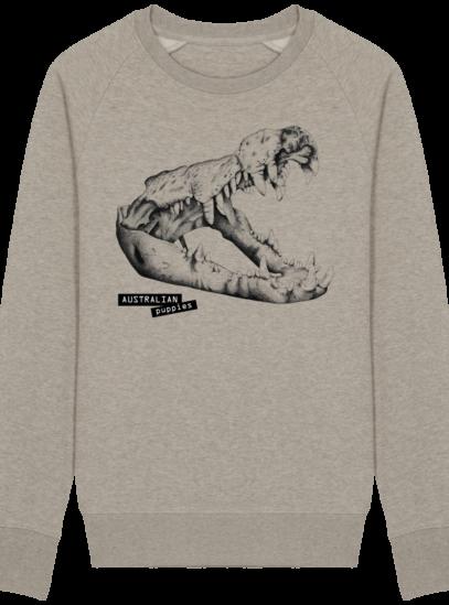 Sweat Shirt Crocodile - Australian Puppies - Heather Sand - Face