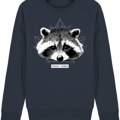 Sweat Shirt Raton Laveur/Racoon - Trash Panda - French Navy - Face