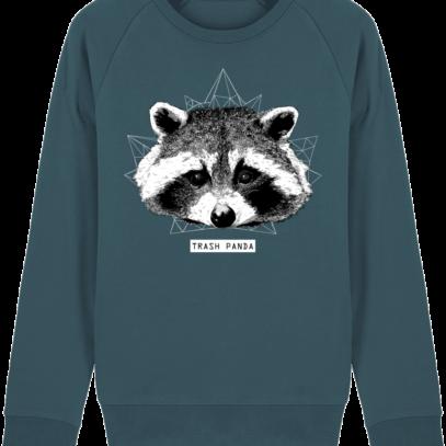 Sweat Shirt Raton Laveur/Racoon - Trash Panda - Stargazer - Face