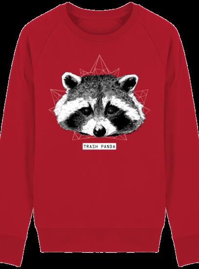 Sweat Shirt Raton Laveur/Racoon - Trash Panda - Red - Face