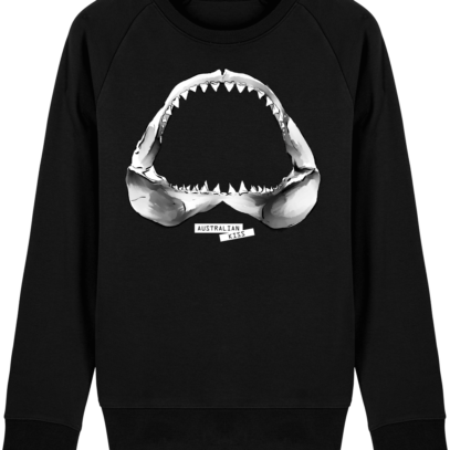Sweat Shirt Requin / Shark - Australian Kiss - Black - Face