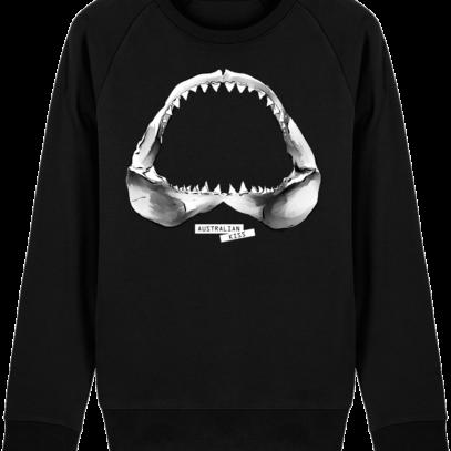 Sweat Shirt Requin / Shark - Australian Kiss - Black - Face