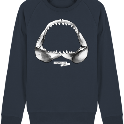 Sweat Shirt Requin / Shark - Australian Kiss - French Navy - Face