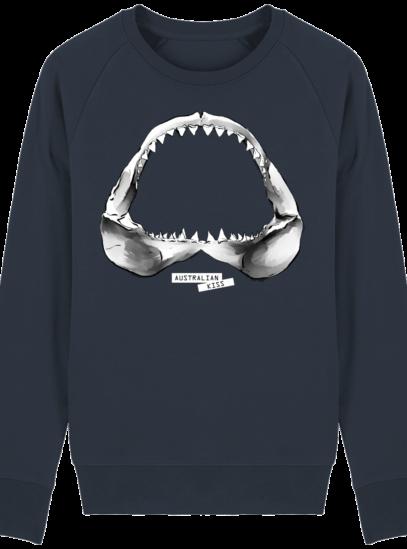 Sweat Shirt Requin / Shark - Australian Kiss - French Navy - Face