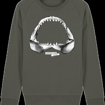 Sweat Shirt Requin / Shark - Australian Kiss - Khaki - Face