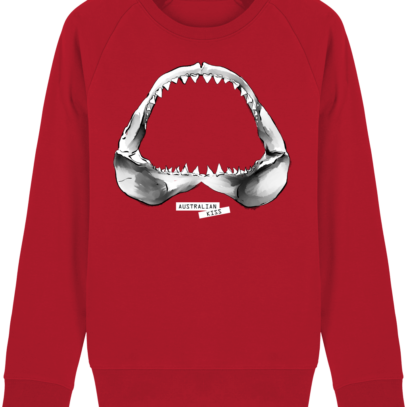 Sweat Shirt Requin / Shark - Australian Kiss - Red - Face