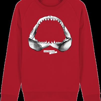 Sweat Shirt Requin / Shark - Australian Kiss - Red - Face