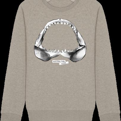 Sweat Shirt Requin / Shark - Australian Kiss - Heather Sand - Face