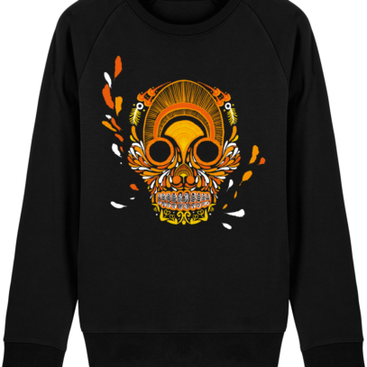 Sweat Shirt Breton - Breizh Skull - La Calavera Bretaña - Black - Face