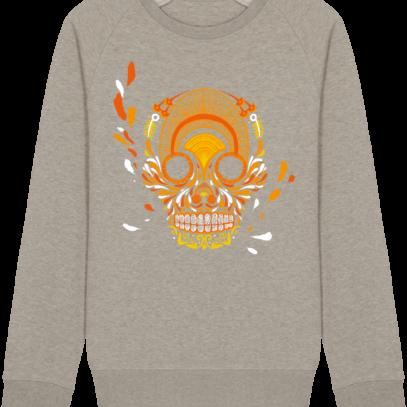 Sweat Shirt Breton - Breizh Skull - La Calavera Bretaña - Heather Sand - Face