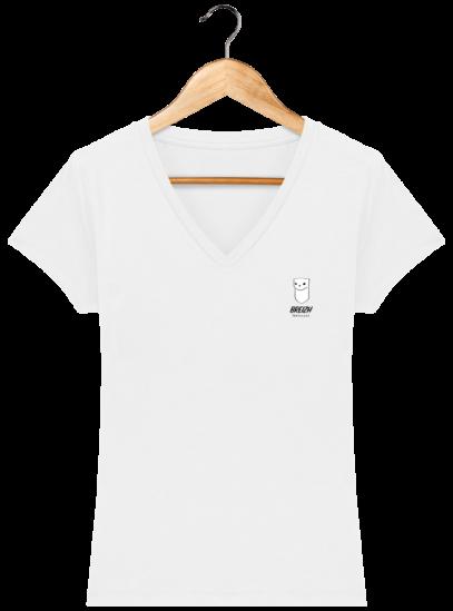 T Shirt Breton Hermine Bretonne – Breizh Traveller - White - Face