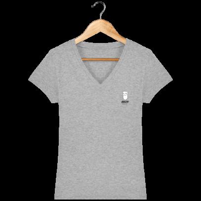 T Shirt Breton Hermine Bretonne – Breizh Traveller - Heather Grey - Face