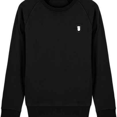 Sweat Shirt Breton – Hermine Bretonne brodée - Black - Face