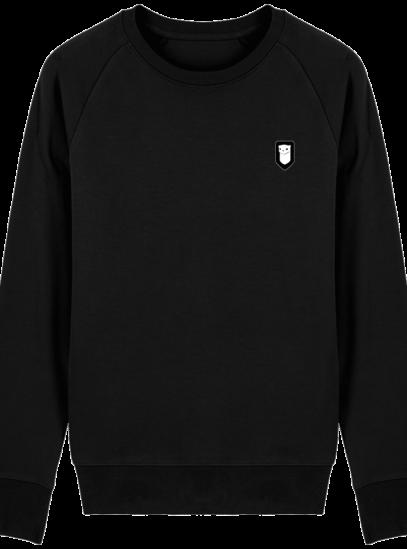 Sweat Shirt Breton – Hermine Bretonne brodée - Black - Face