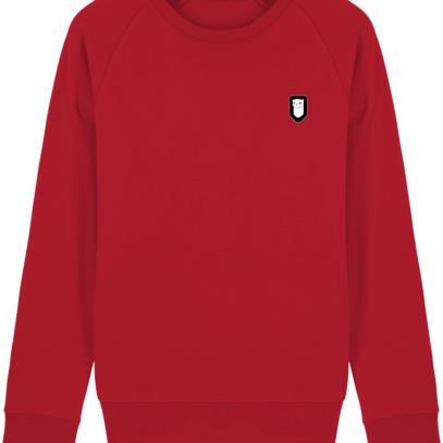 Sweat Shirt Breton – Hermine Bretonne brodée - Red - Face