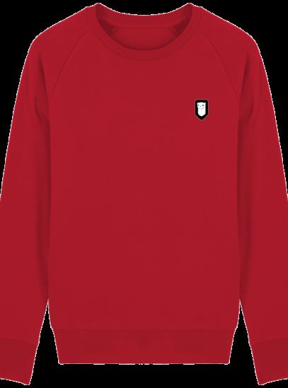 Sweat Shirt Breton – Hermine Bretonne brodée - Red - Face