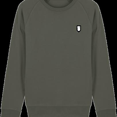 Sweat Shirt Breton – Hermine Bretonne brodée - Khaki - Face
