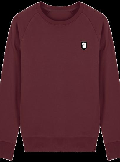 Sweat Shirt Breton – Hermine Bretonne brodée - Burgundy - Face
