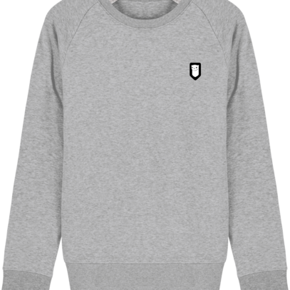 Sweat Shirt Breton – Hermine Bretonne brodée - Heather Grey - Face