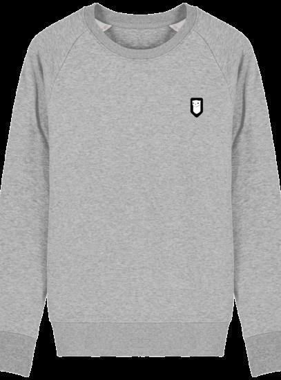 Sweat Shirt Breton – Hermine Bretonne brodée - Heather Grey - Face
