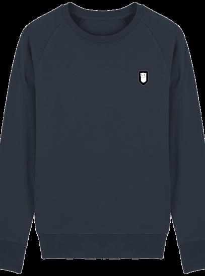 Sweat Shirt Breton – Hermine Bretonne brodée - French Navy - Face