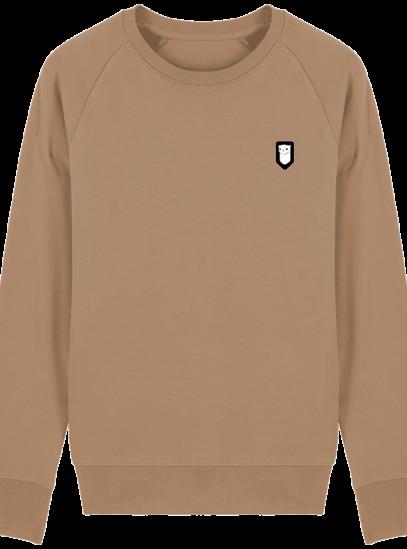 Sweat Shirt Breton – Hermine Bretonne brodée - Camel - Face
