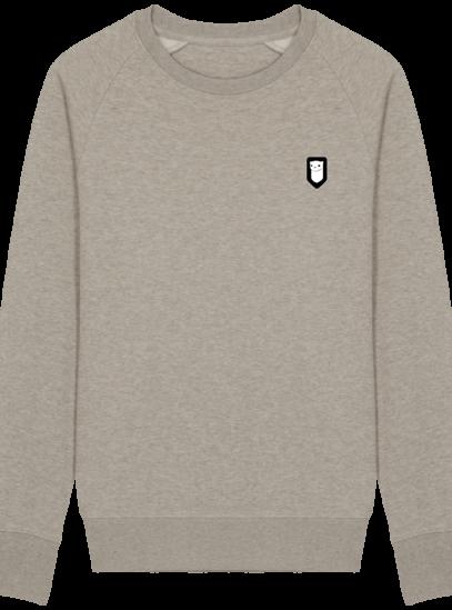 Sweat Shirt Breton – Hermine Bretonne brodée - Heather Sand - Face