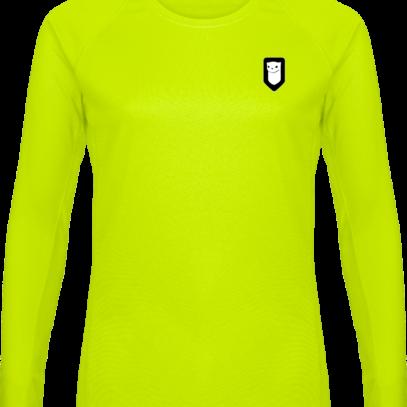 T-shirt Sport Manches Longues Hermine Bretonne - Lime - Plexus