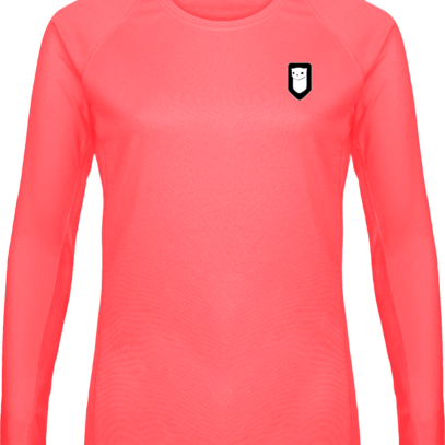 T-shirt Sport Manches Longues Hermine Bretonne - Fluorescent Pink - Plexus
