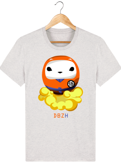 T Shirt DBZH  - Le Dragon Ball Z Breton - Cream Heather Grey - Face