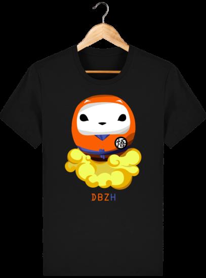 T Shirt DBZH  - Le Dragon Ball Z Breton - Black - Face