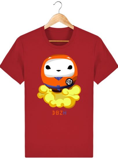 T Shirt DBZH  - Le Dragon Ball Z Breton - Red - Face