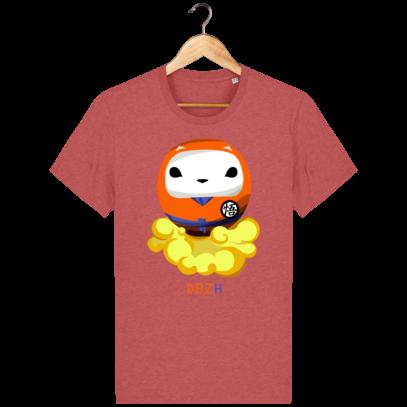 T Shirt DBZH  - Le Dragon Ball Z Breton - Mid Heather Red - Face