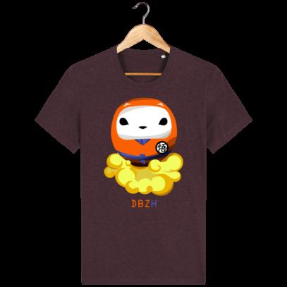 T Shirt DBZH  - Le Dragon Ball Z Breton - Heather Grape Red - Face