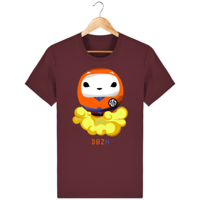 T Shirt DBZH  - Le Dragon Ball Z Breton - Burgundy - Face