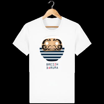 T Shirt Breton - Breizh Daruma Marinière - White - Face