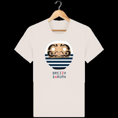 T Shirt Breton - Breizh Daruma Marinière - Off White - Face